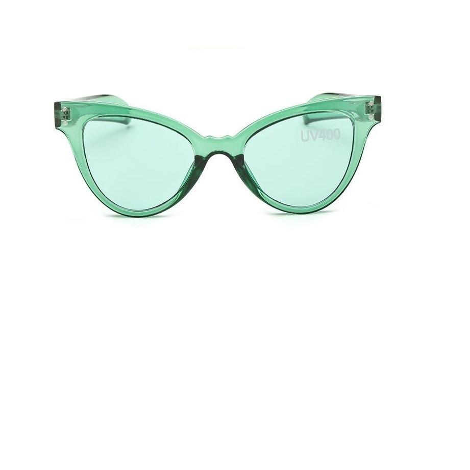 08d142162 óculos de sol feminino estilo gatinho transparente verde. Carregando zoom.