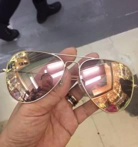 Óculos De Sol Feminino Estilo Vintage Lentes Rosê   Rosa - R  29,95 ... bc5749ad02