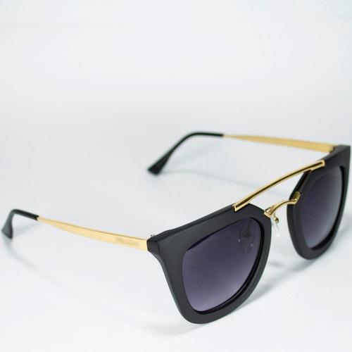 óculos de sol feminino exclusive case geometric + brinde