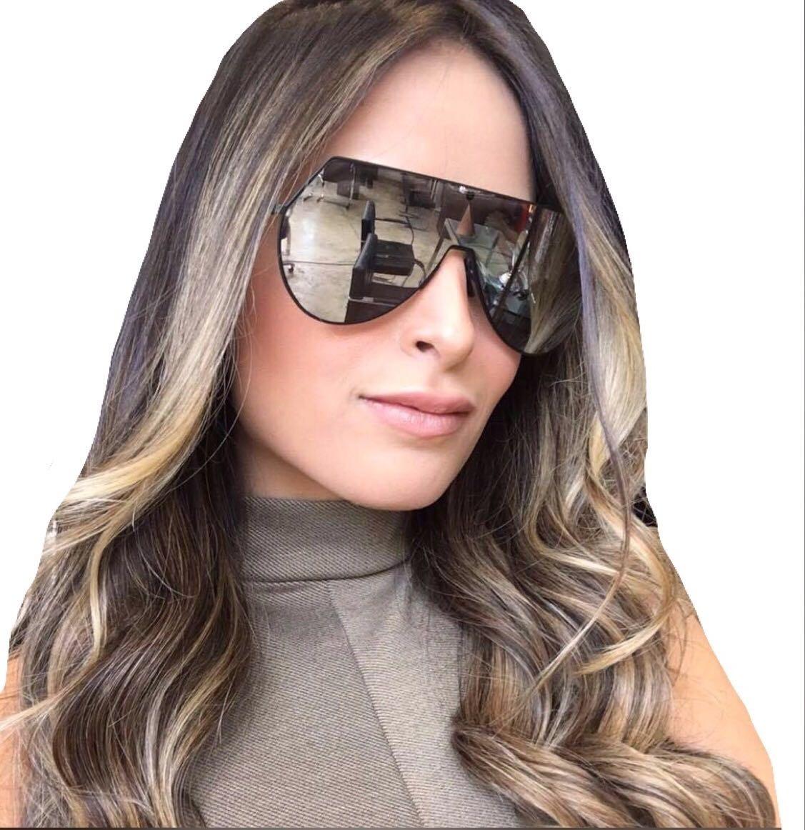 837ba57b7 oculos de sol feminino exclusive fendi máscara premium. Carregando zoom.