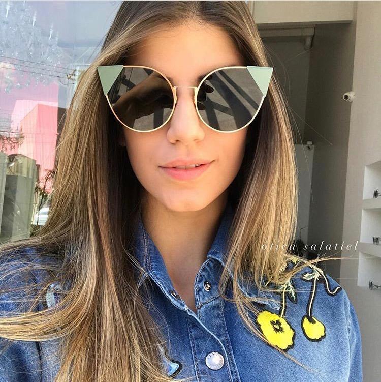 51e33037e0e68 Óculos De Sol Feminino Fendi Lei Ff 0190 S Frete Grátis - R  599