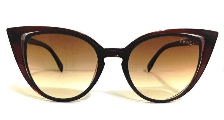 3ace0a2af6065 Oculos De Sol Feminino Fendi Paradeyes Black Degradê - R  100