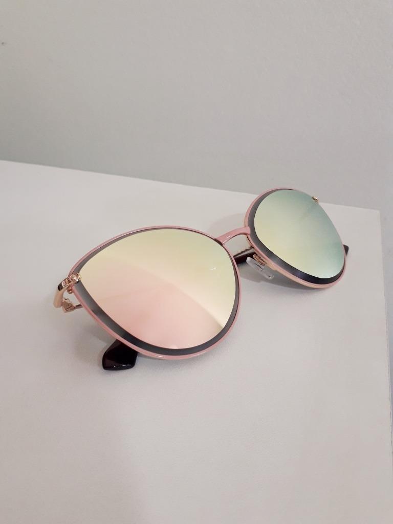 188b632b1 Óculos De Sol Feminino Gatinho Espelhado Rosa - R$ 44,90 em Mercado ...