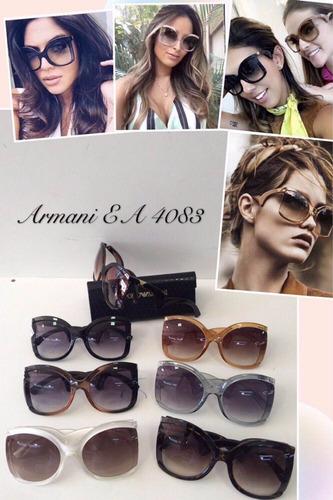 óculos de sol feminino gatinho grande armani ea4083 c/ frete