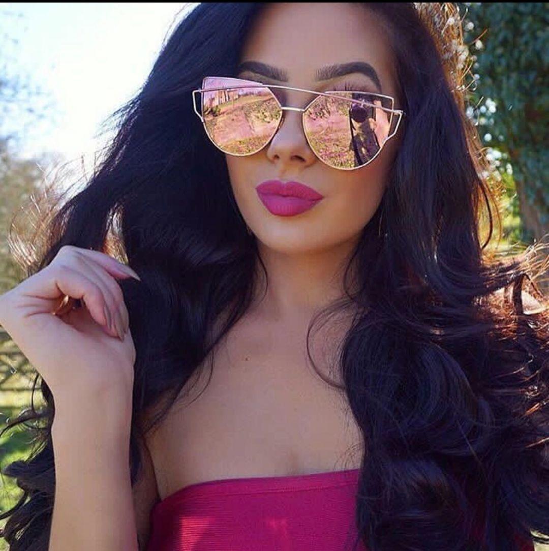 e9c46c109430b óculos de sol feminino gatinho grande armani frete + brinde. Carregando  zoom.