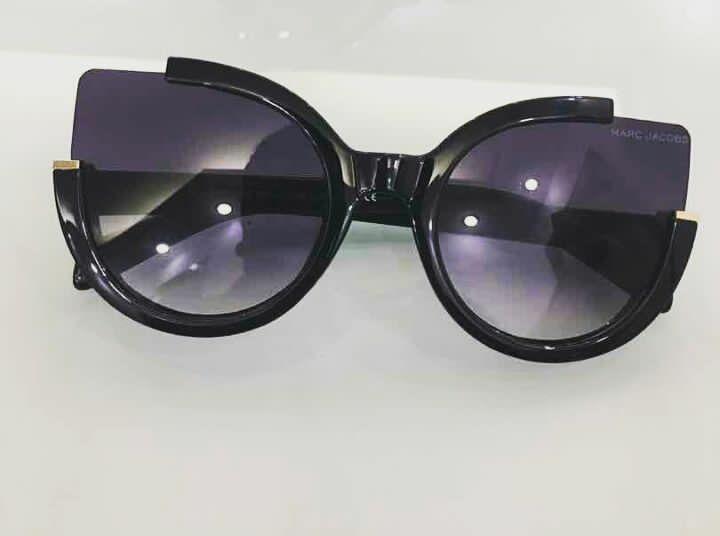 óculos de sol feminino gatinho marc jacobs preto e prata f957d79f3a