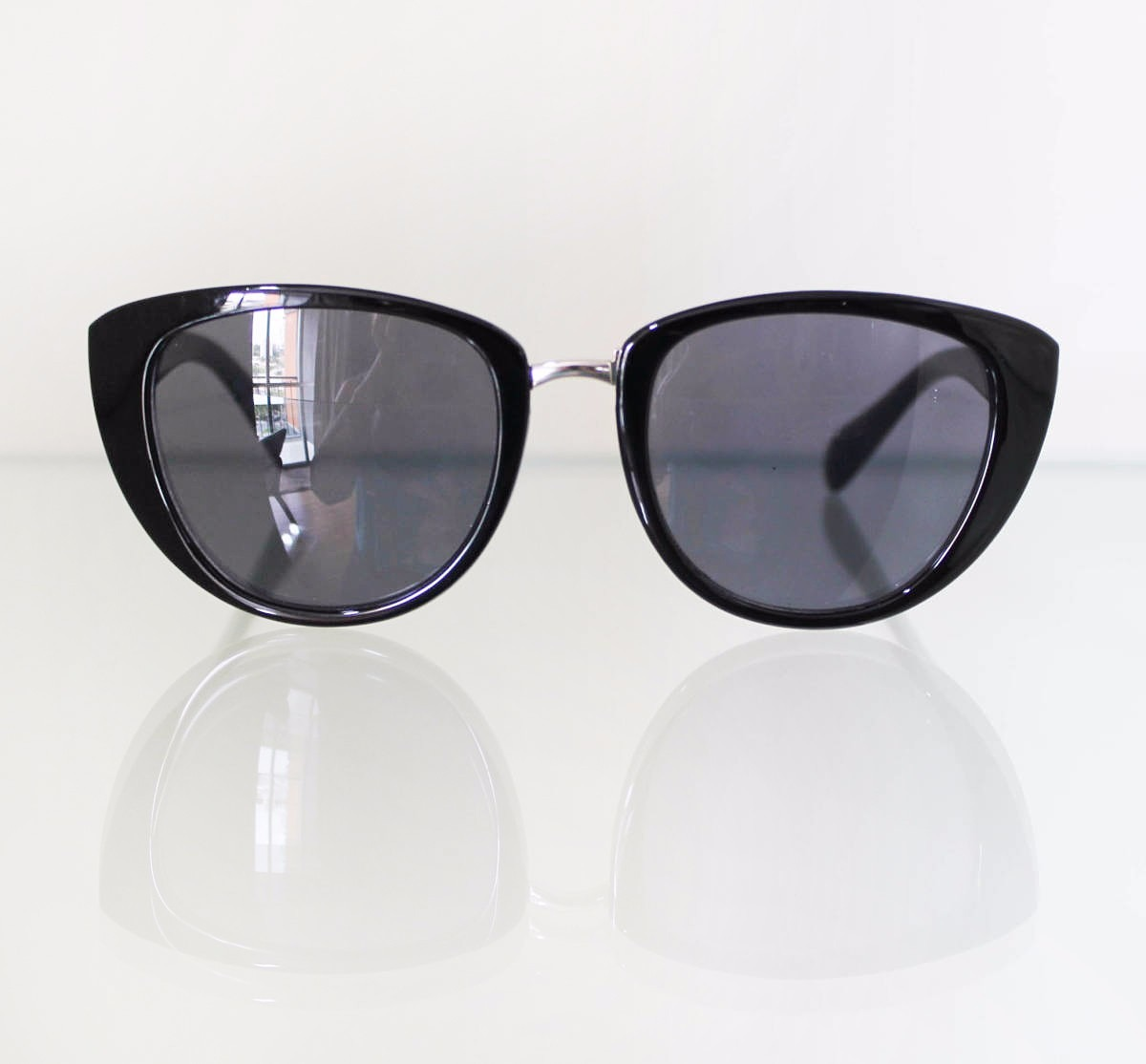 óculos de sol feminino gatinho preto cateye retrô vintage. Carregando zoom. 7d05569068