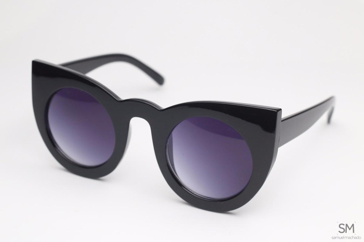 óculos de sol feminino gatinho preto original. Carregando zoom. 020b7ef114