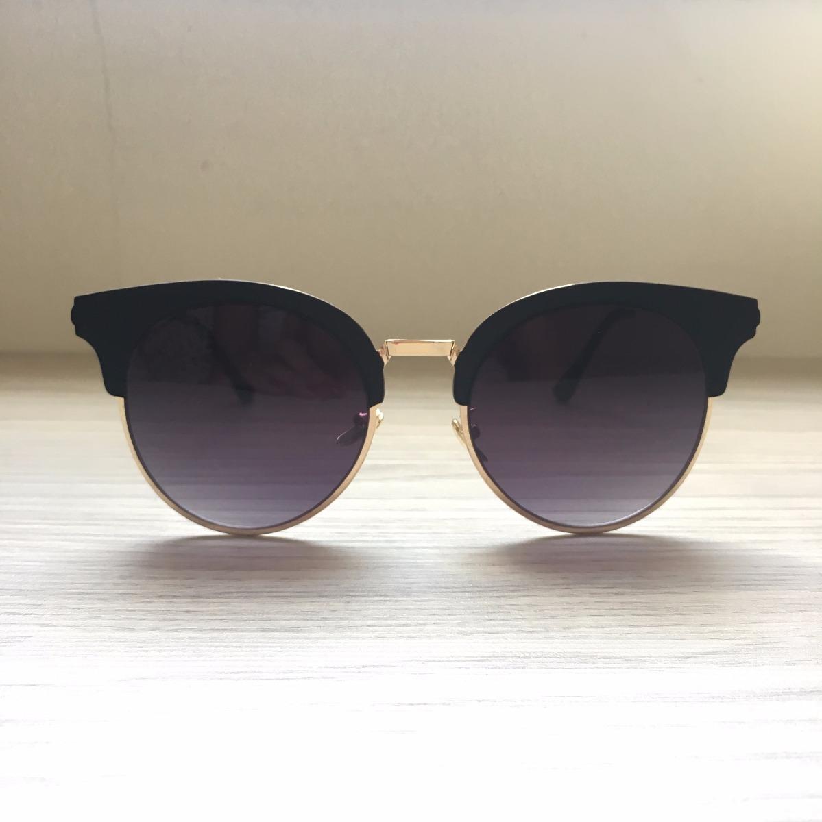 3038aef3e1e0e óculos de sol feminino gatinho redondo espelhado preto rosa. Carregando  zoom.