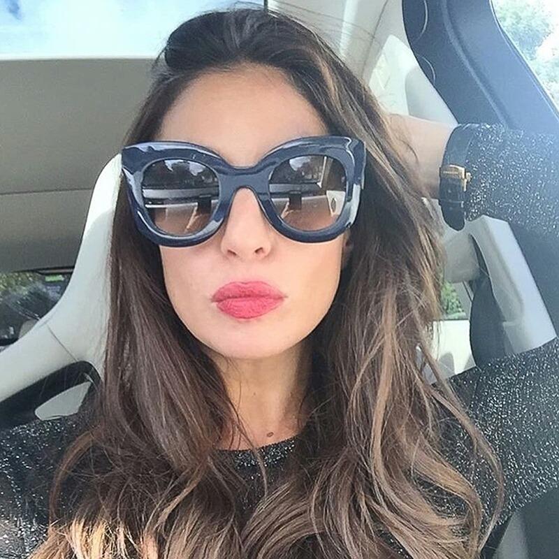 947474c902308 óculos de sol feminino gatinho retrô proteção uv400 frete gr. Carregando  zoom.