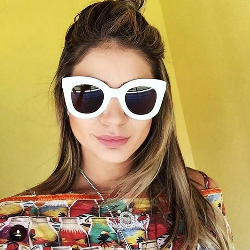 598449696ea23 óculos de sol feminino gatinho retrô proteção uv400 frete gr. Carregando  zoom.