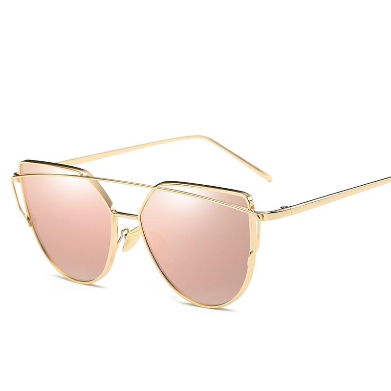a82a64306 óculos de sol feminino gatinho rose espelhado uv400. Carregando zoom.