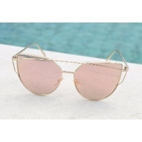 0c598cdd2 Óculos De Sol Feminino Gatinho Rose Espelhado Uv400 - R$ 44,99 em ...