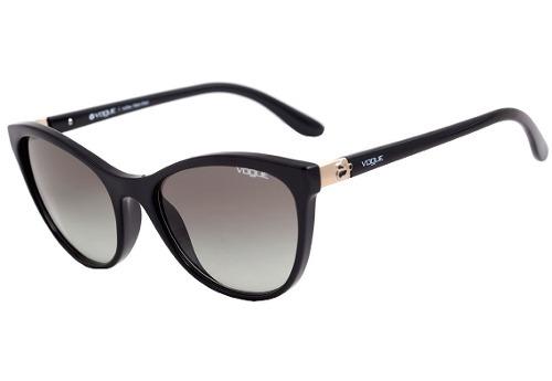 Óculos De Sol Feminino Gatinho Vogue Vo5131sl Preto Origina - R  450 ... 338534a5ae