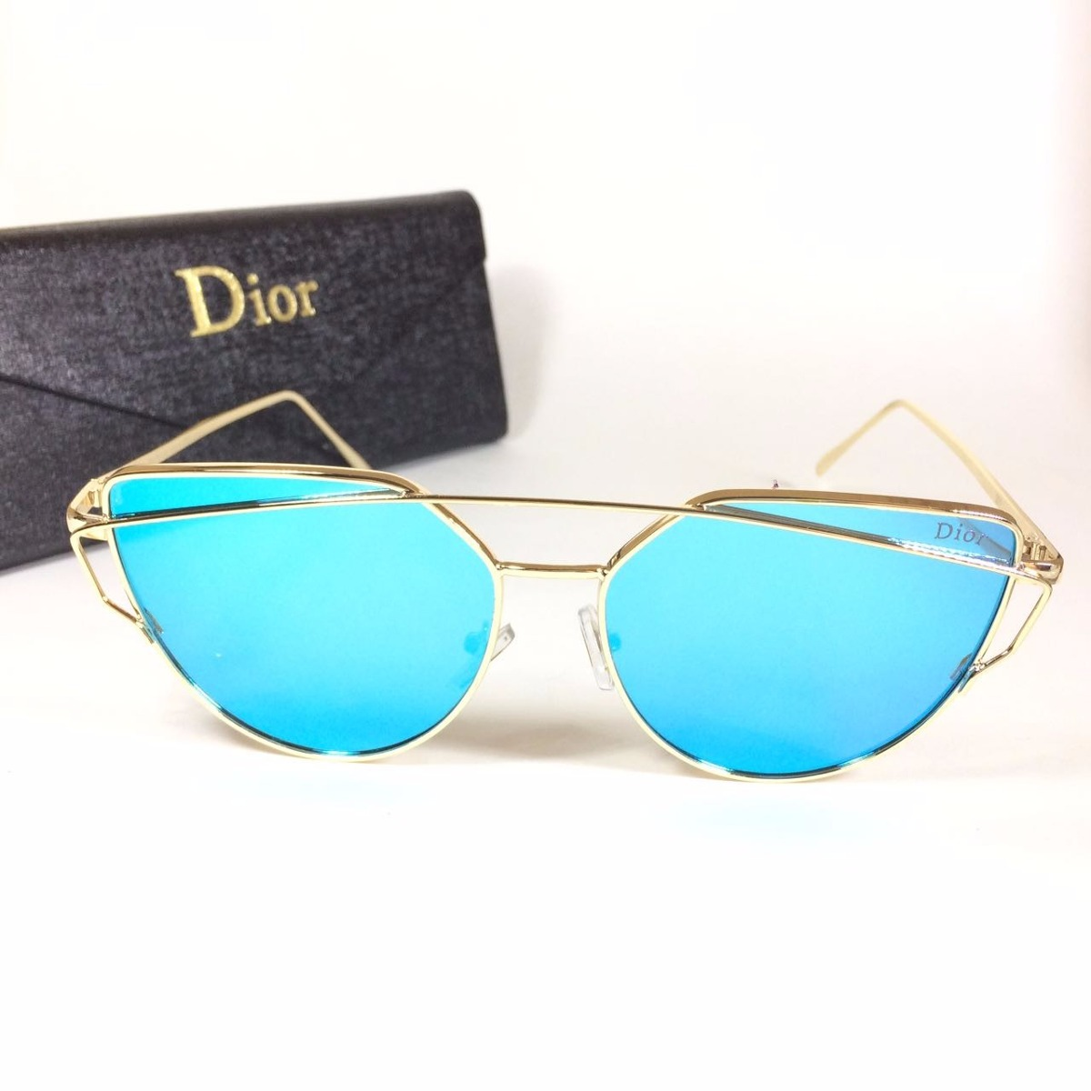 e93808c471de2 oculos de sol feminino gato gatinho azul espelhado uva uvb. Carregando zoom.