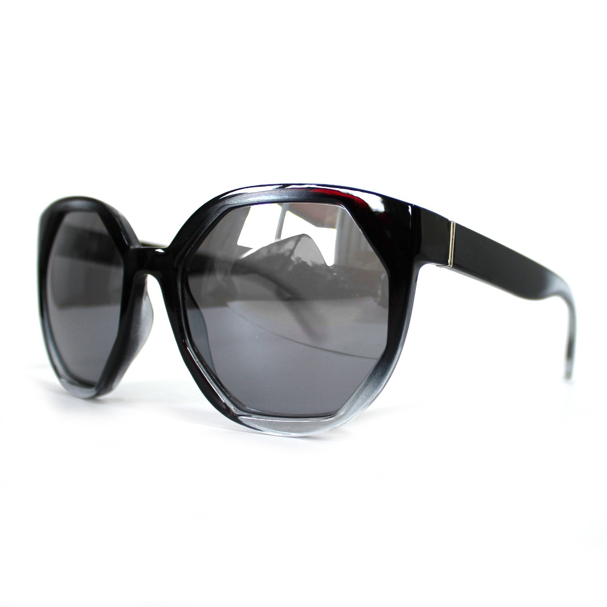 74f30618b óculos de sol feminino geométrico transparente grande preto. Carregando  zoom.