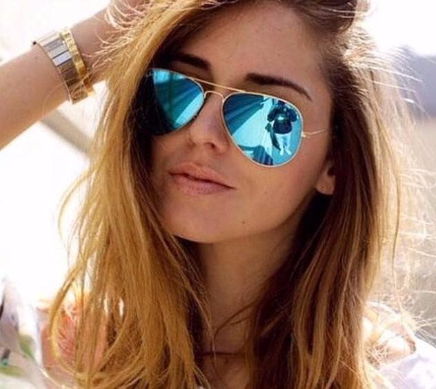Óculos De Sol Feminino Grande Espelhado Aviador Barato Lindo - R  39 ... b199427501