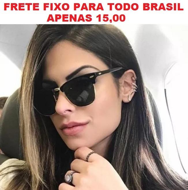 Oculos De Sol Feminino Grande Gato Retrô Gatinho Barato Luxo - R ... f9ea08ee5f