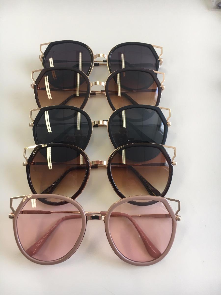 d44bff7f2f137 óculos de sol feminino grande moda coleção 2018 rosa. Carregando zoom.