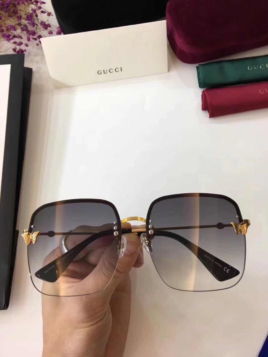 4e6a5388f7d12 Óculos De Sol Feminino Gucci Com Abelhinha Com Kit - R  399