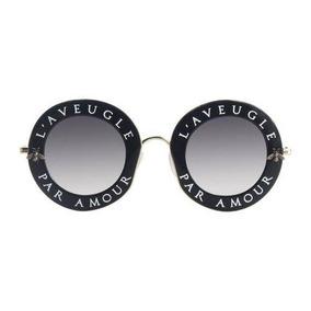b3ad4deff5 Óculos De Sol Feminino Gucci Gg0113s-001 L'aveugle Original