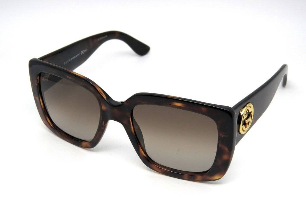 óculos de sol feminino gucci gg3814 quadrado grande marrom. Carregando zoom. 0215393c1c