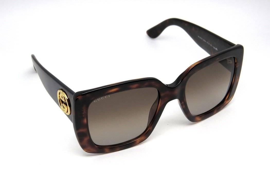 67f6e0c82 óculos de sol feminino gucci gg3814 quadrado grande marrom. Carregando zoom.