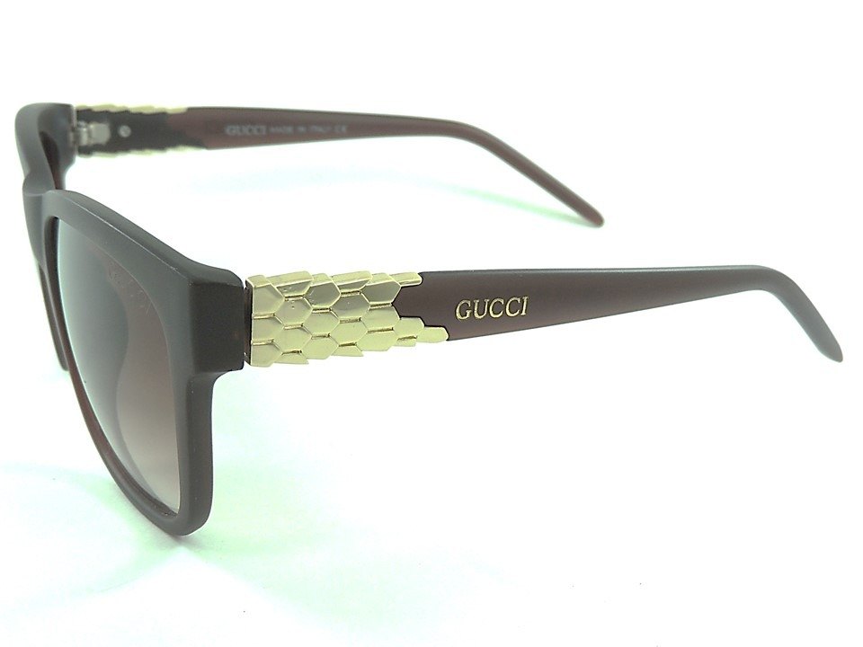 b39c3ae6d óculos de sol feminino gucci luxo marrom proteção uv400. Carregando zoom.