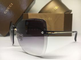 4f13790be Oculos De Sol Feminino Gucci Original Quadrado Frete Grátis