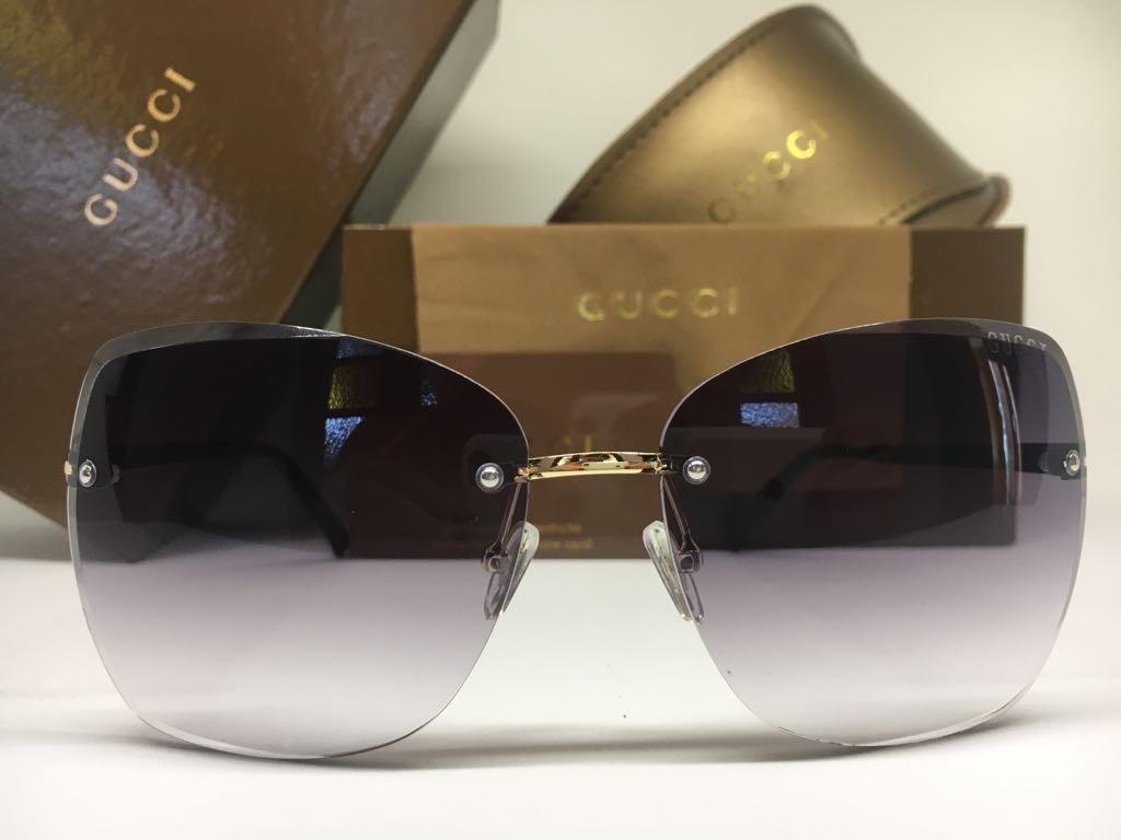 Oculos De Sol Feminino Gucci Original Quadrado Frete Grátis - R  380 ... 4d902db615