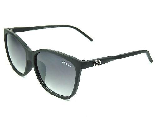ab28f8c13509a Óculos De Sol Feminino Gucci Preto Proteção Uv400 - R  49