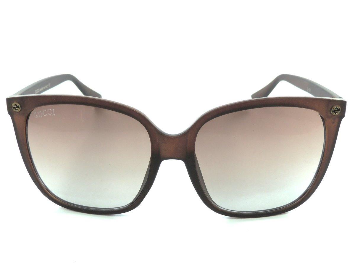 91a7ae7b0 óculos de sol feminino gucci quadrado marrom proteção uv400. Carregando zoom .
