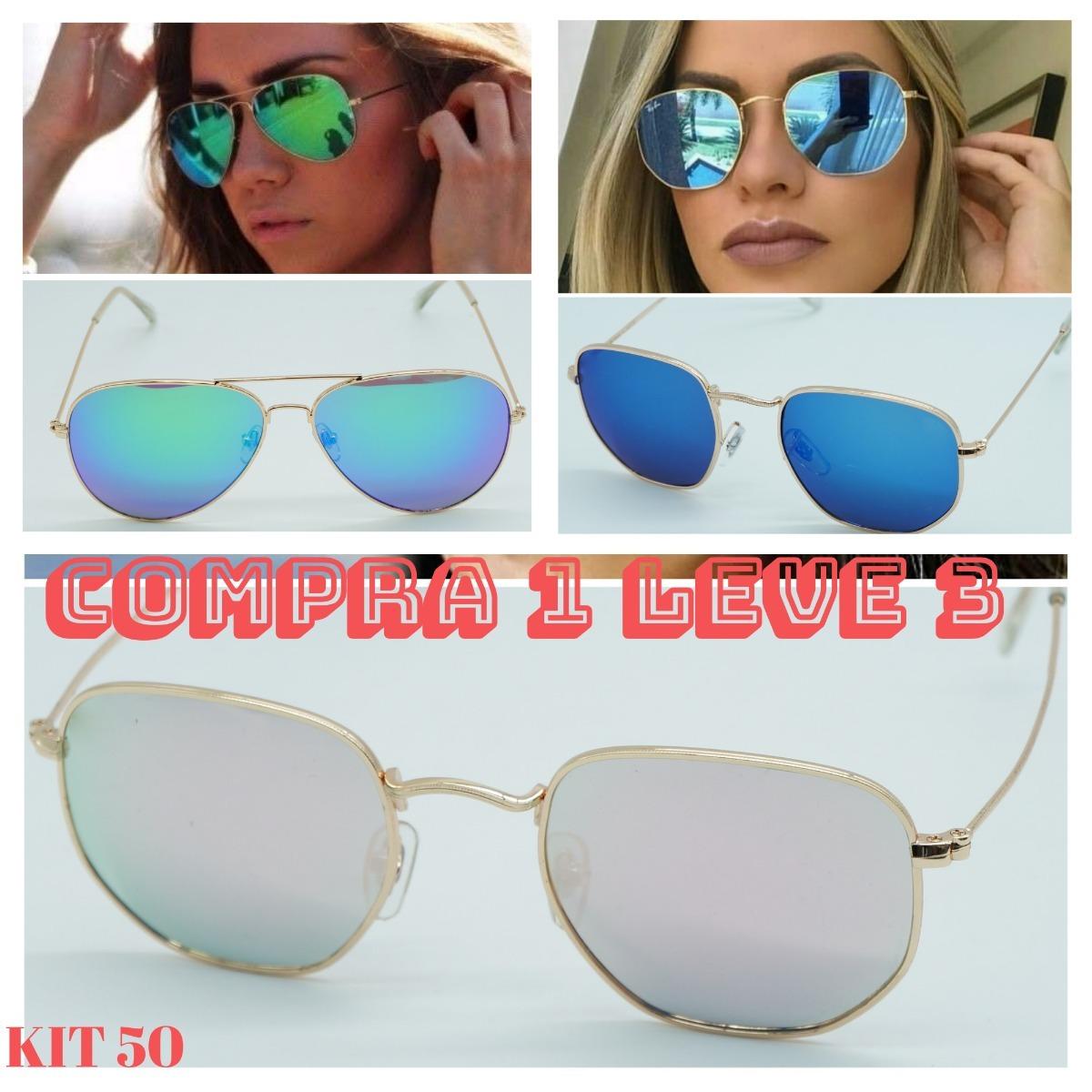 21796aee464eb óculos de sol feminino hexagonal aviador espelhado promoção. Carregando zoom .