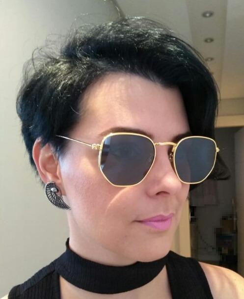 6eede34eb986a Óculos De Sol Feminino Hexagonal Estilo Retro Super Promoção - R  31 ...