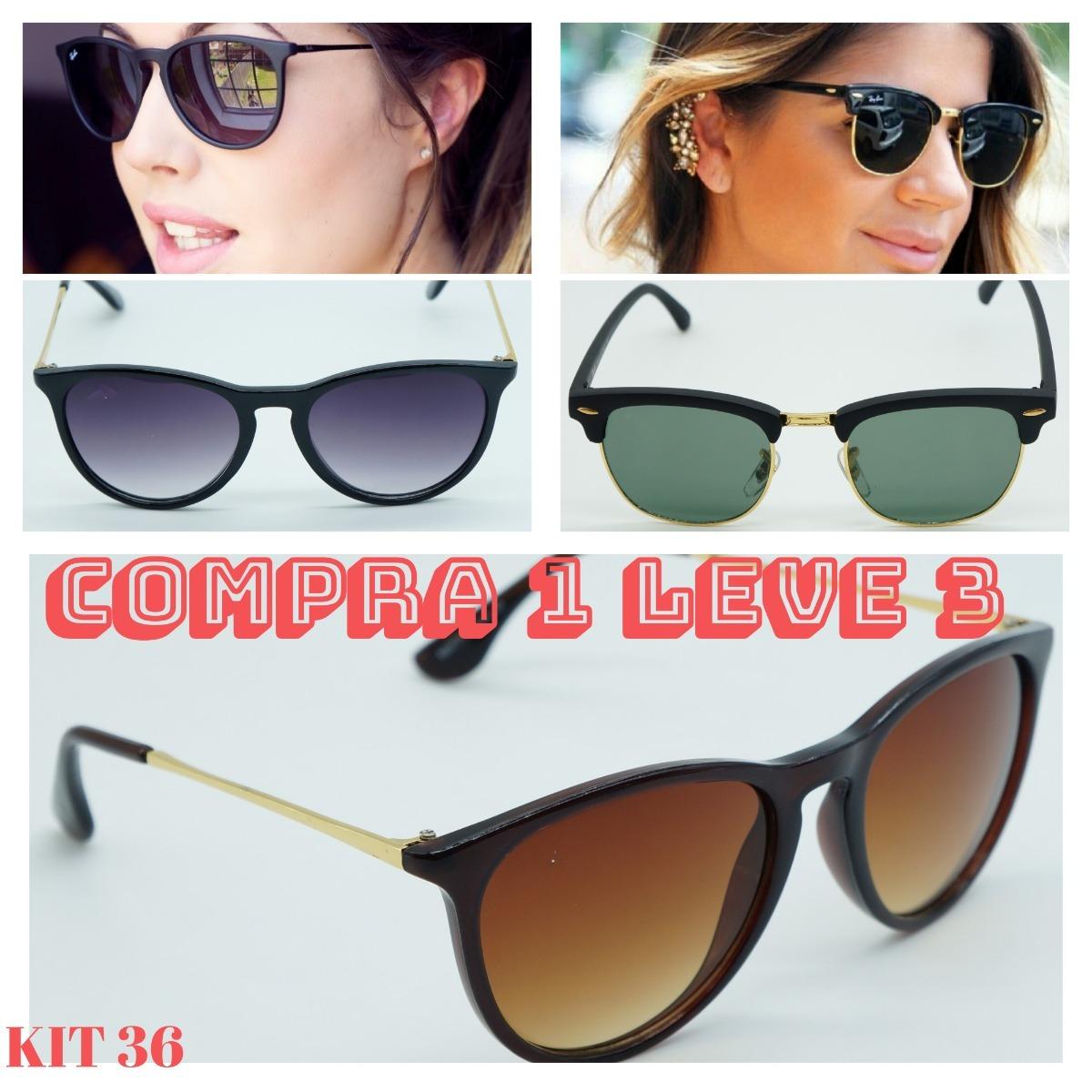 Óculos De Sol Feminino Justin Hexagonal Preto Fosc Promoção - R  120,00 em  Mercado Livre 428acfb766