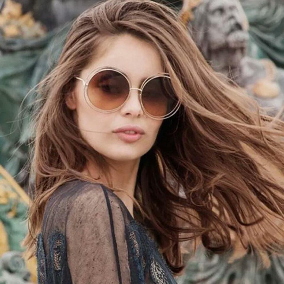 óculos de sol feminino lançamento original proteção uv400. Carregando zoom. bacafe9e08