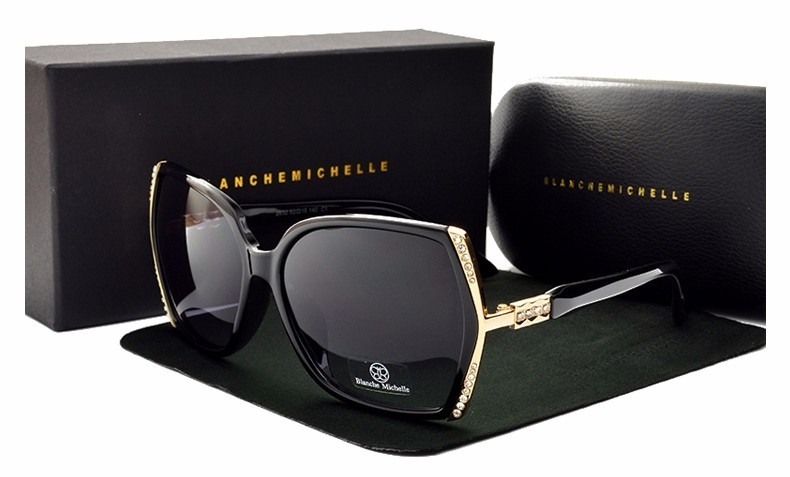 ff1b248eb8537 Óculos De Sol Feminino Lente Polarizada Uv 400 Luxo C case - R  149 ...