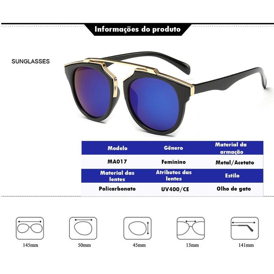 3c1267b40 óculos de sol feminino lentes espelhadas olho de gato uv400. Carregando zoom .