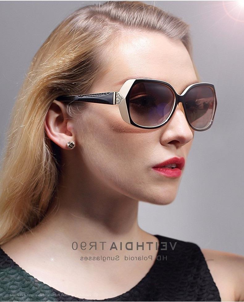 óculos de sol feminino luxury diamond polarizado proteção uv. Carregando  zoom. 29cfe58a23