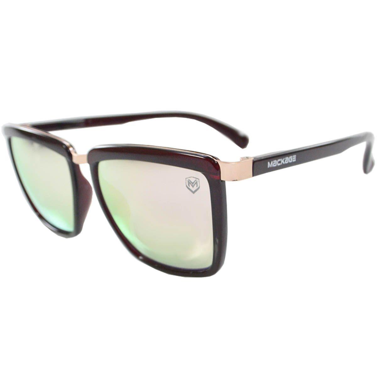 b83e6dfa9513b Óculos De Sol Feminino Mackage Mk2140v Vinho - R  49