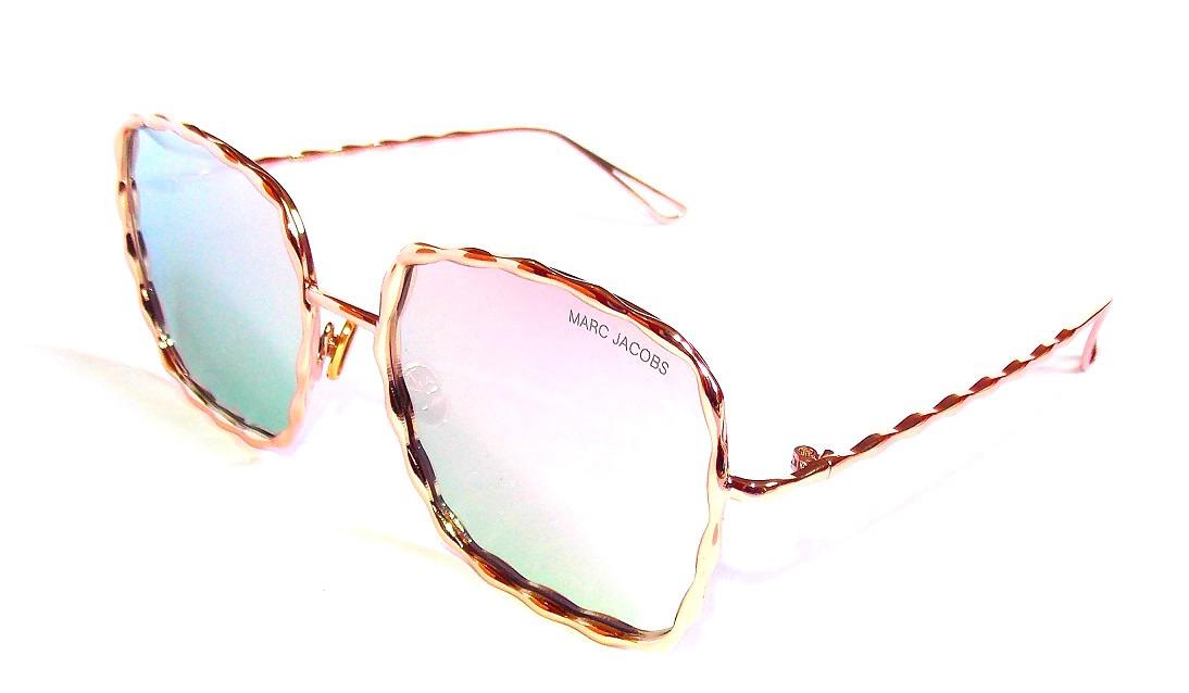 43a85577020bc óculos de sol feminino marc jacobs metal dourado quadrado. Carregando zoom.