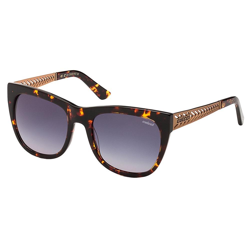 15077d8fd óculos de sol feminino marrom lente cinza degradê colcci. Carregando zoom.