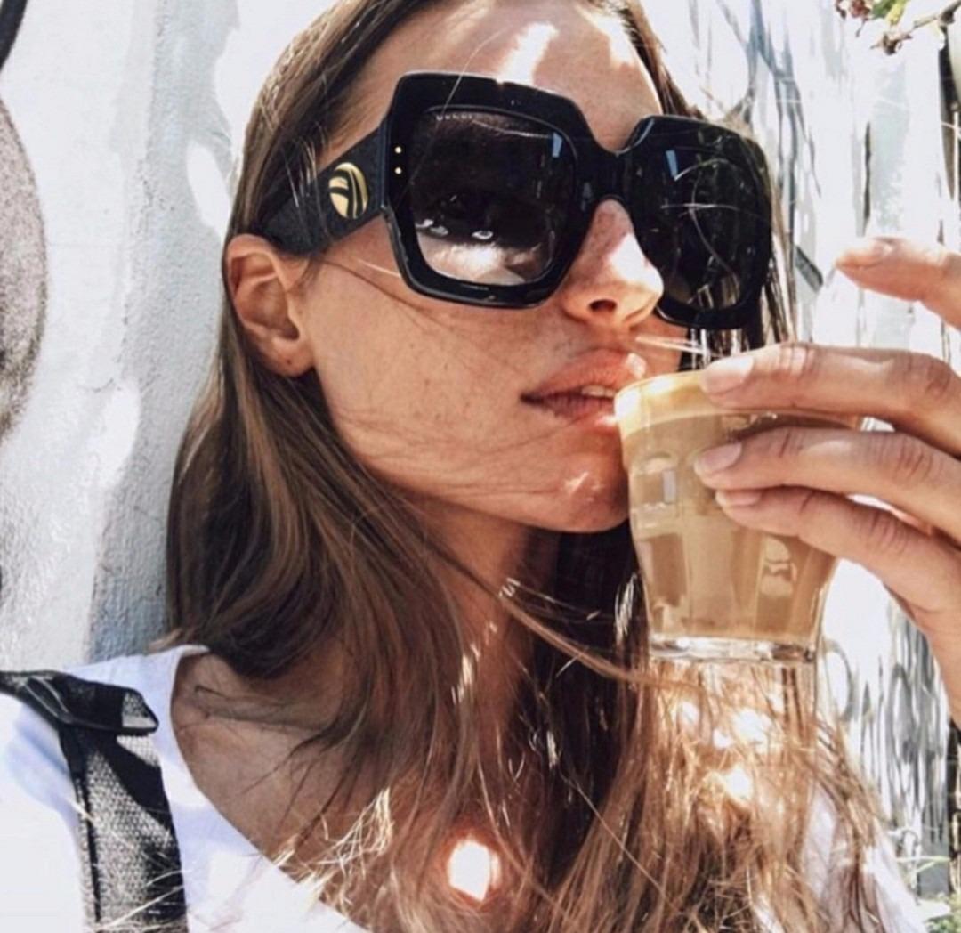0e05a17740680 óculos de sol feminino máscara quadrado 2018 degradê uv400. Carregando zoom.