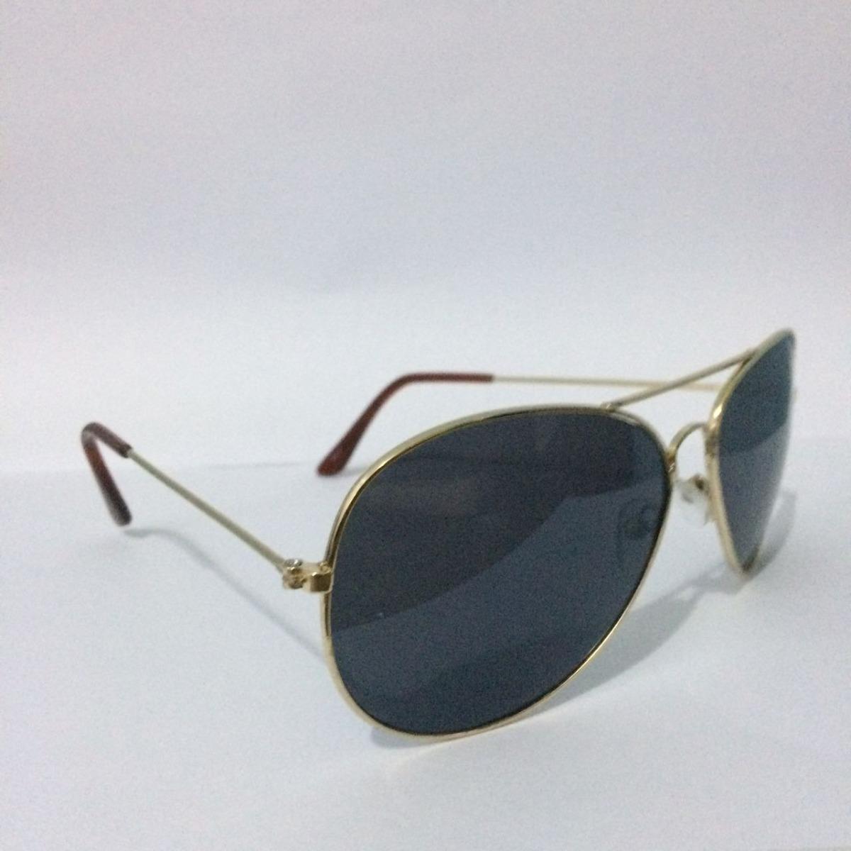 610fdecdf7ec6 óculos de sol feminino masculino aviador armação dourada. Carregando zoom.