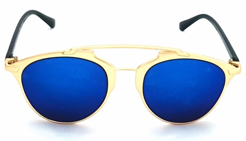 Oculos De Sol Feminino Masculino Espelhado Azul - R  129,00 em ... 1047a6072e