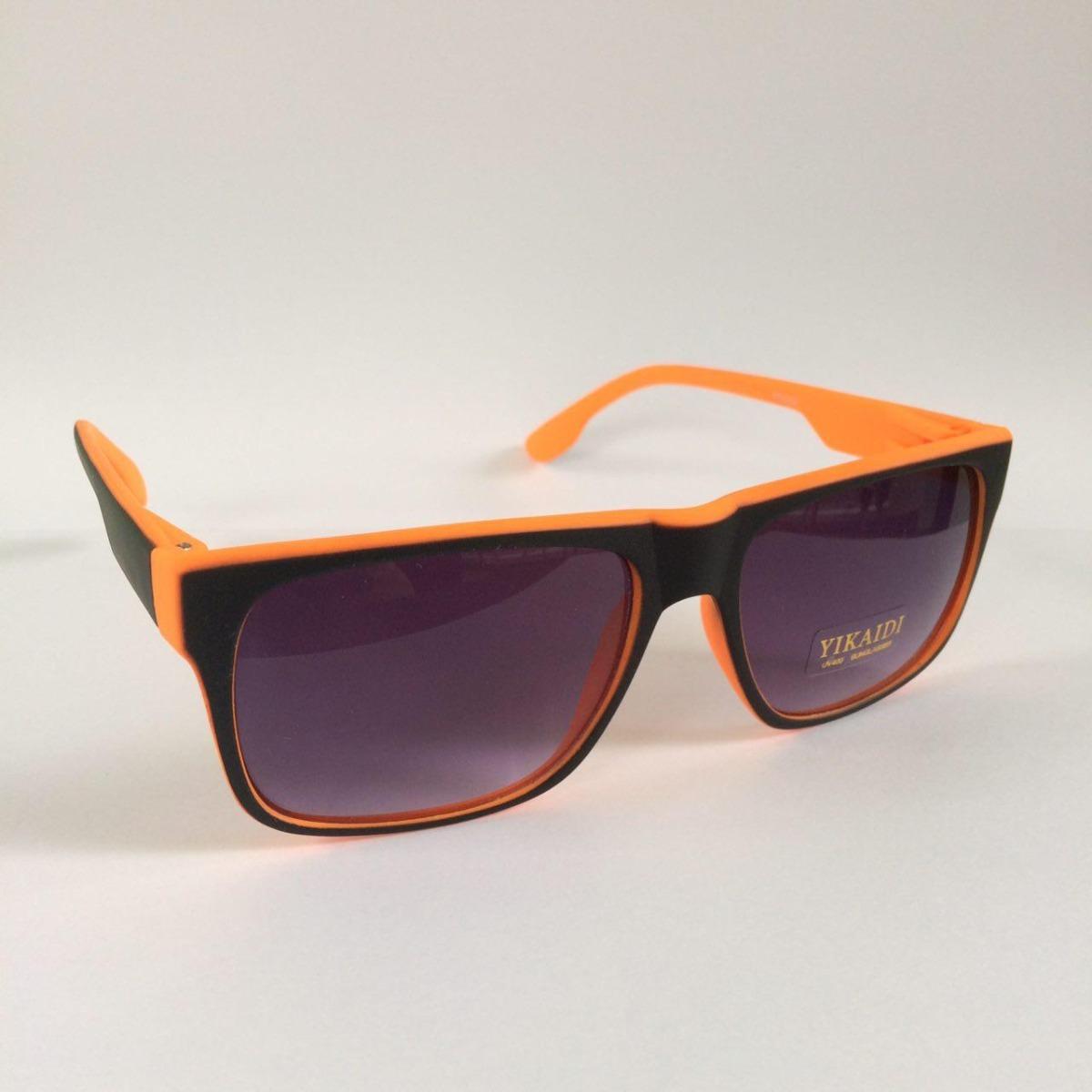 c687bc5f2b439 óculos de sol feminino masculino quadrado preto e laranja. Carregando zoom.