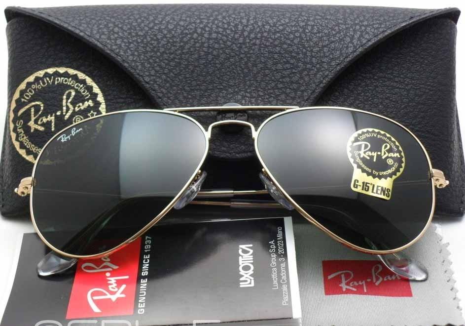 56540d59211fda Oculos De Sol Feminino Masculino Ray Aviador Gg Rb3027 64mm - R  300 ...