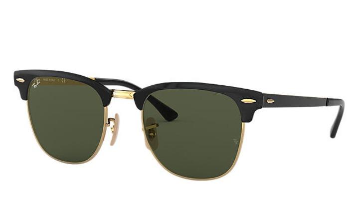 Óculos De Sol Feminino Masculino Rb Clubmaster Preto + Case - R  69 ... 93050462b6