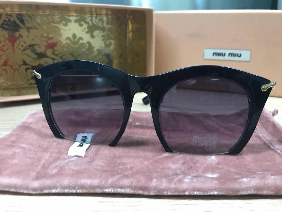 a240b5ad1e281 Óculos De Sol Feminino Miu Miu Rasoir Grafite - R  279,90 em Mercado ...
