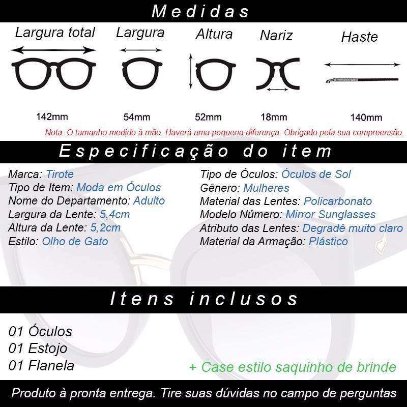 Óculos De Sol Feminino Olho De Gato Degradê Claro - R  45,50 em ... 7e8b0d97e5